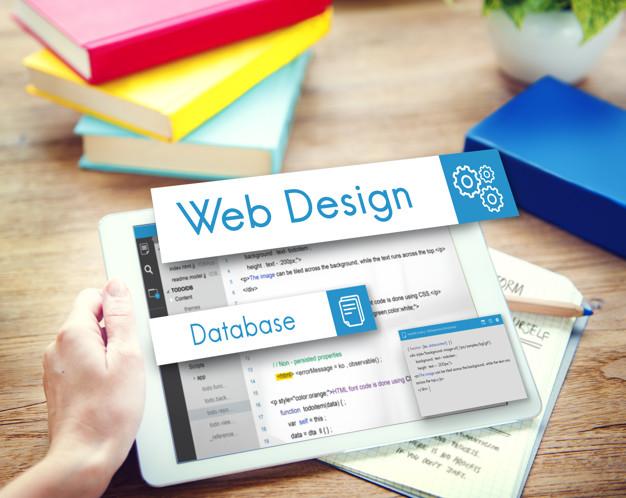 Web Design Website Coding Concept
